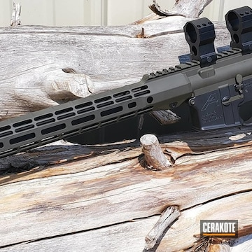 Cerakoted Two Toned Aero Precision Rifle In H-146 And H-232