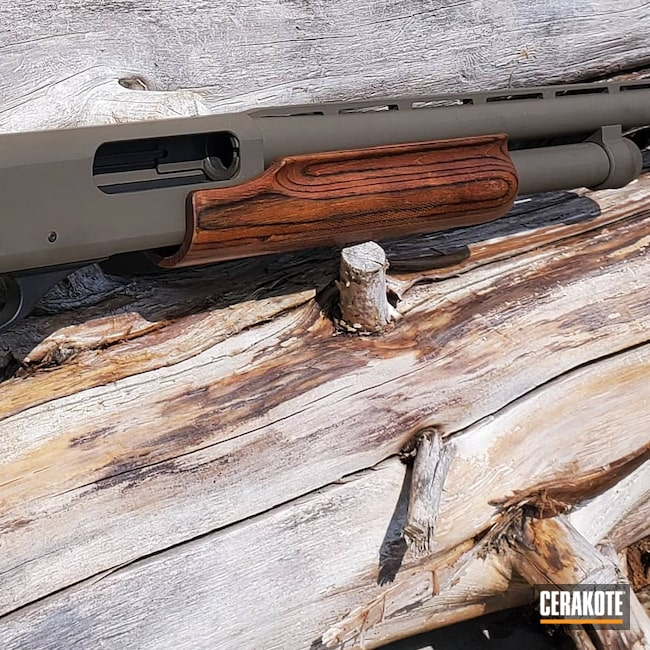 Cerakoted: S.H.O.T,Shotgun,Graphite Black H-146,Patriot Brown H-226,12 Gauge,870,Remington