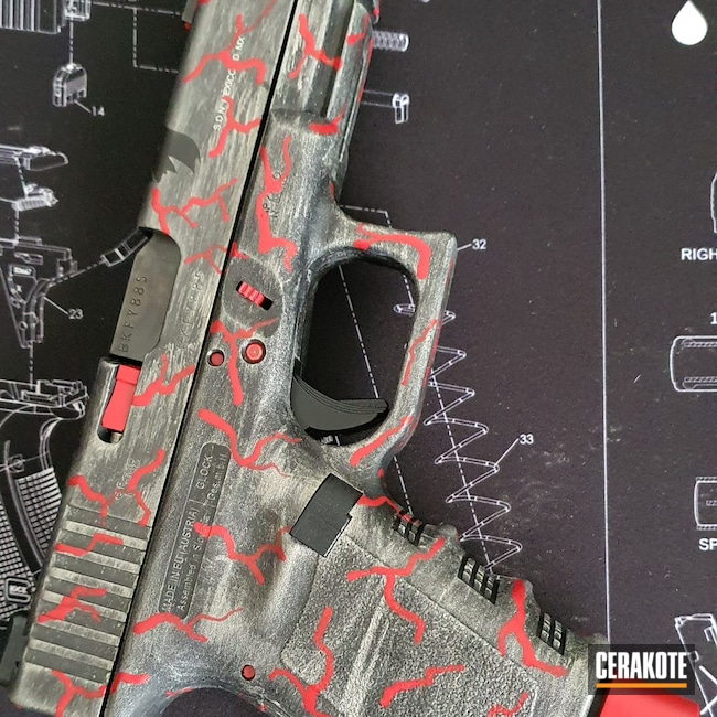 Cerakoted: S.H.O.T,DC Comics,Shimmer Aluminum H-158,Custom,RUBY RED H-306,Pistol,Glock,Batman