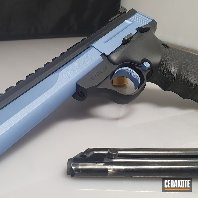 Cerakoted: S.H.O.T,Browning Buckmark,Graphite Black H-146,Two Tone,Browning,Pistol,POLAR BLUE H-326