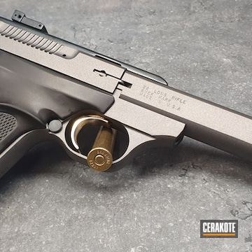 Cerakoted Refinished Browning Buckmark In H-146 And H-237