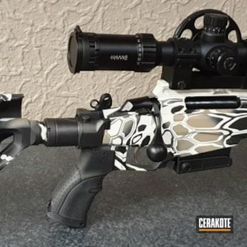 Cerakoted Custom Bolt Action Rifle Kryptek
