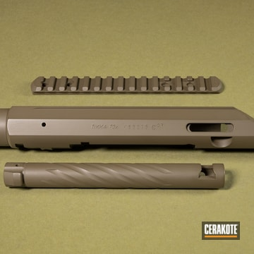 Cerakoted Tikka T3x Rifle Parts In H-226