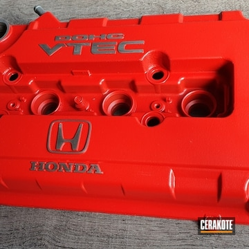 Cerakoted Refinished Honda Valve Covers In H-109 And H-167