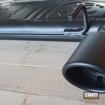Cerakoted Fiat 500 Exhaust In C-7600 And C-7700