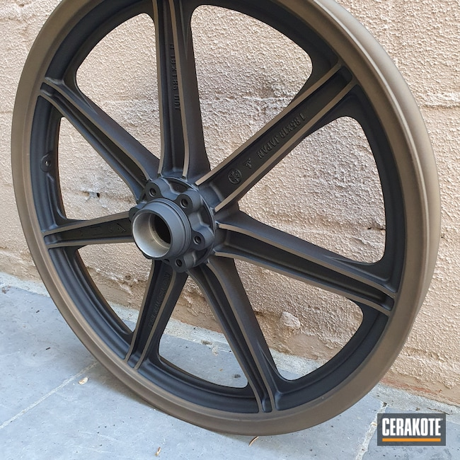 Cerakoted: Graphite Black H-146,Motorcycles,Two Tone,Motorcycle Parts,Burnt Bronze H-148,More Than Guns,Automotive