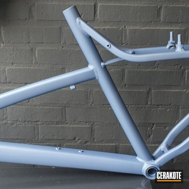 Cerakoted Refinished Bicycle Frame In H-326