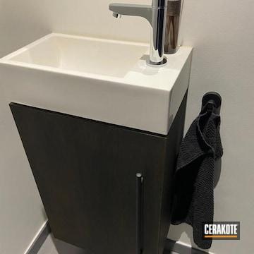 Cerakoted Bathroom Hardware In H-146