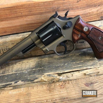 Cerakoted .357 S&w Revolver In H-146 And H-148