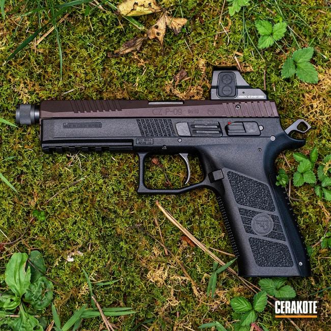 Cerakoted: S.H.O.T,9mm,VORTEX® BRONZE H-293,CZ P-09,Pistol,CZ,Optics