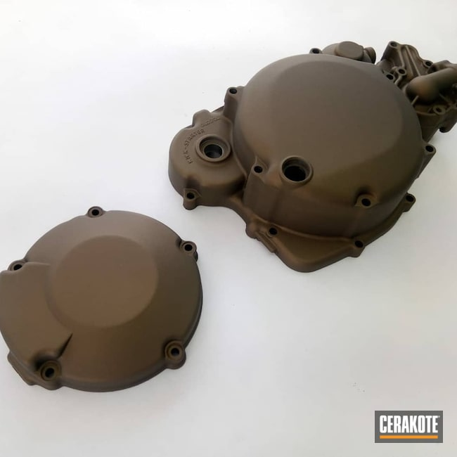 Cerakoted: Engine Cover,Motorcycles,Burnt Bronze H-148,More Than Guns,Automotive