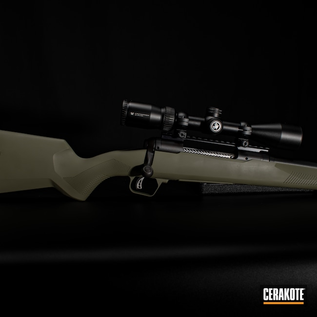 Cerakoted: S.H.O.T,Bolt Action Rifle,Bolt Action,Firearm,Savage,Forest Green H-248,.270