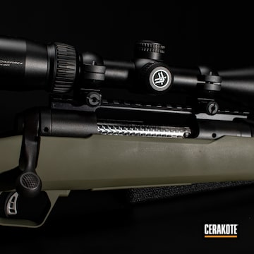 Cerakoted Bolt Action Savage Rifle In H-248