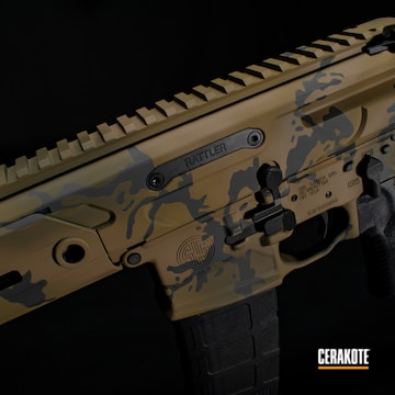 Cerakoted Sig Sauer Rattler Camo In H-200, H-235, H-344 And H-210