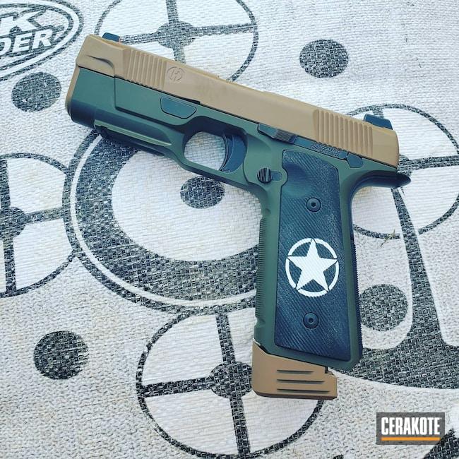 Cerakoted: S.H.O.T,9mm,Stormtrooper White H-297,Pistol,O.D. Green H-236,Hudson