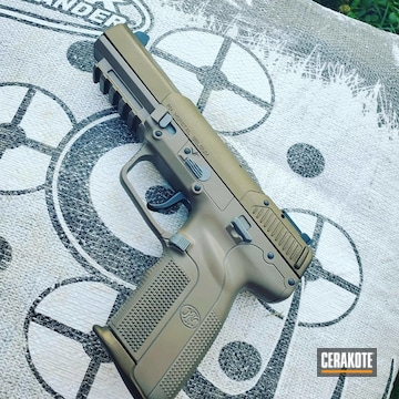 Cerakoted Two Toned Fn 5.7 In H-148 And E-200