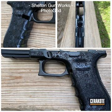 Cerakoted Laser Engraved Glock Frame In H-109