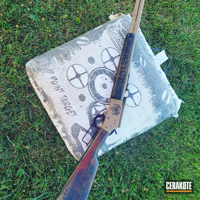 Cerakoted: S.H.O.T,Rifle,Marlin,1894,BARRETT® BROWN H-269,Lever Action,Lever Action Rifle,Armor Black H-190,44 Magnum