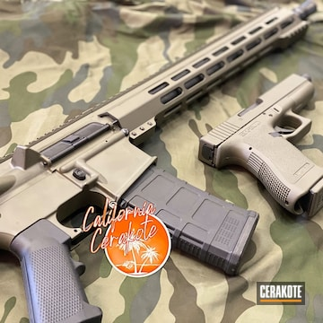 Cerakoted Matching Ar And Glock In H-240