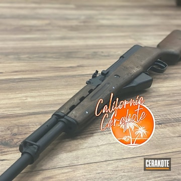 Cerakoted Refinished Rifle In H-146