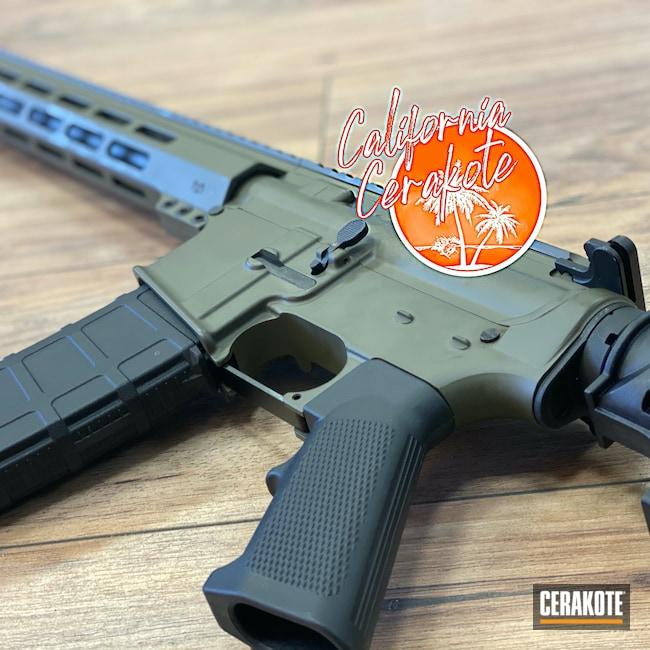 Cerakoted: S.H.O.T,Mil Spec O.D. Green H-240,Tactical Rifle,Christopher Miller,california cerakote