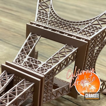 Cerakoted Eiffel Tower Model In H-327