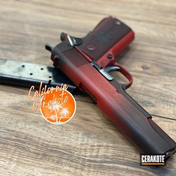 Cerakoted Colt 1911 Handgun In H-146 And H-167