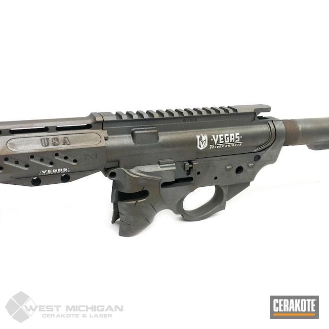 Cerakoted: S.H.O.T,Knights,Distressed,Tungsten H-237,Tactical Rifle,Vegas,Firearms,Vegas Golden Knights,Sniper Grey H-234,BARRETT® BRONZE H-259,Firearm,Burnt Bronze H-148,Knight