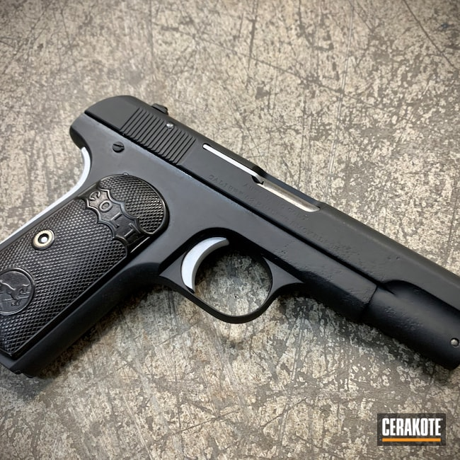 Cerakoted: S.H.O.T,1903,Graphite Black H-146,Pocket Hammerless,Colt,Satin Aluminum H-151,Pistol