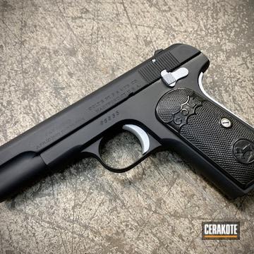 Cerakoted Colt 1903 Handgun In H-146 And H-151
