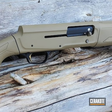 Cerakoted Refinished Browning Shotgun In H-235 And H-146