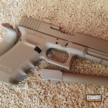 Cerakoted Solid Toned Glock 21 In H-267