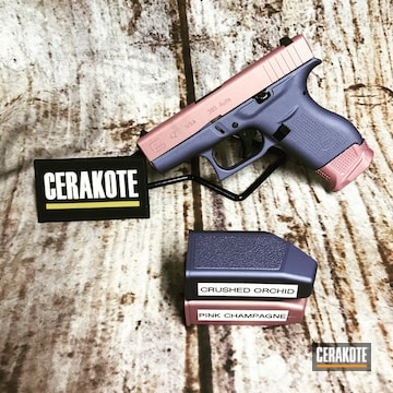 Cerakoted Two Tone Glock 42 In H-311 And H-314