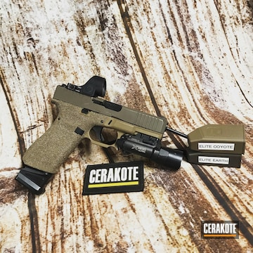 Cerakoted Custom Glock Handgun In E-170 And E-130