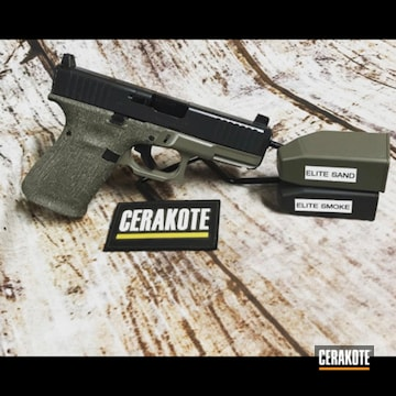Cerakoted Two Toned Glock 19 In E-150 And E-120