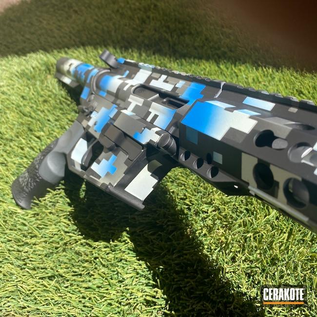 Cerakoted: S.H.O.T,9mm,NRA Blue H-171,Custom,Digital Camo,Graphite Black H-146,Stormtrooper White H-297,Tactical Rifle,Tactical Grey H-227,Bright Nickel H-157,AR-15