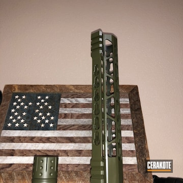 Cerakoted Refinished Ar Parts In C-102 And C-244