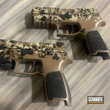 Cerakoted Digital Camo Sig Sauer P320 Handguns