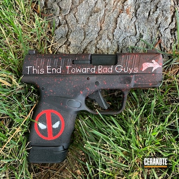 Cerakoted Deadpool Themed Handgun