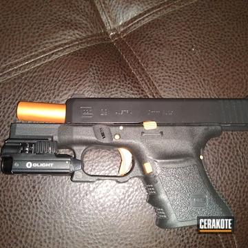 Cerakoted Glock 29 Handgun In H-347 And E-100