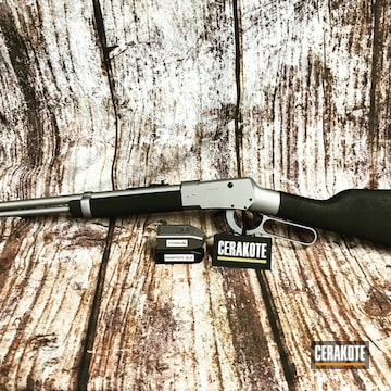 Cerakoted Savage Lever Action Rifle In H-146 And H-170