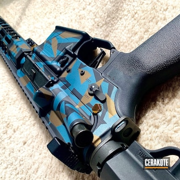 Cerakoted Custom Splinter Camo Finish In H-146, H-148 And H-185