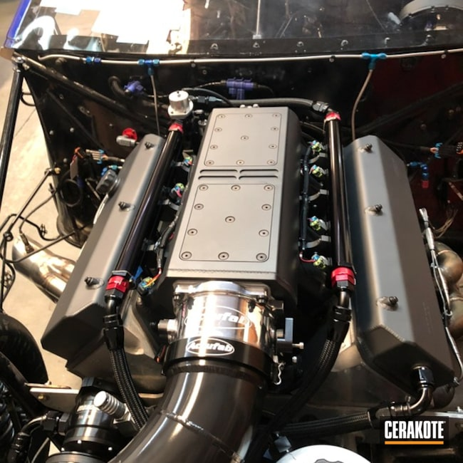 Cerakoted 632ci Big Block Chevy Efi Engine In H-109 And C-112