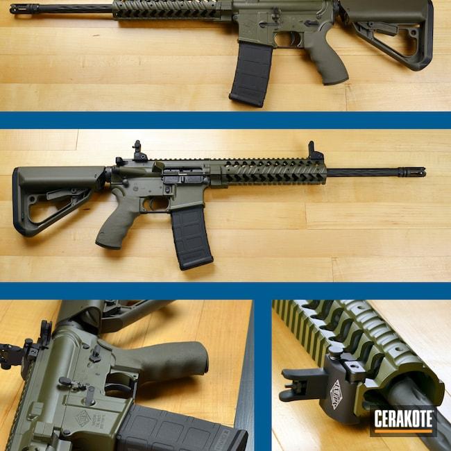 Cerakoted: S.H.O.T,Multi cal,Graphite Black C-102,Tactical Rifle,Yankee Hill,O.D. Green H-236
