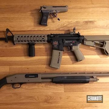 Cerakoted Matching Ar, Shotgun And Handgun In H-265
