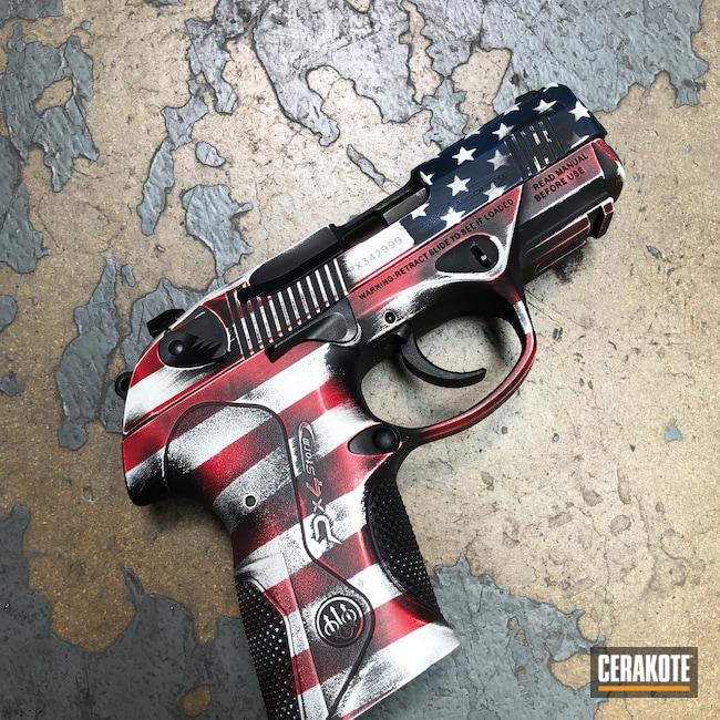 Cerakoted: S.H.O.T,Px4 Storm,Distressed,Armor Black H-190,Pistol,American Flag,Bright White H-140,Battleworn,Battleworn Flag,RUBY RED H-306,Distressed American Flag,KEL-TEC® NAVY BLUE H-127,Beretta,We the people,Handguns