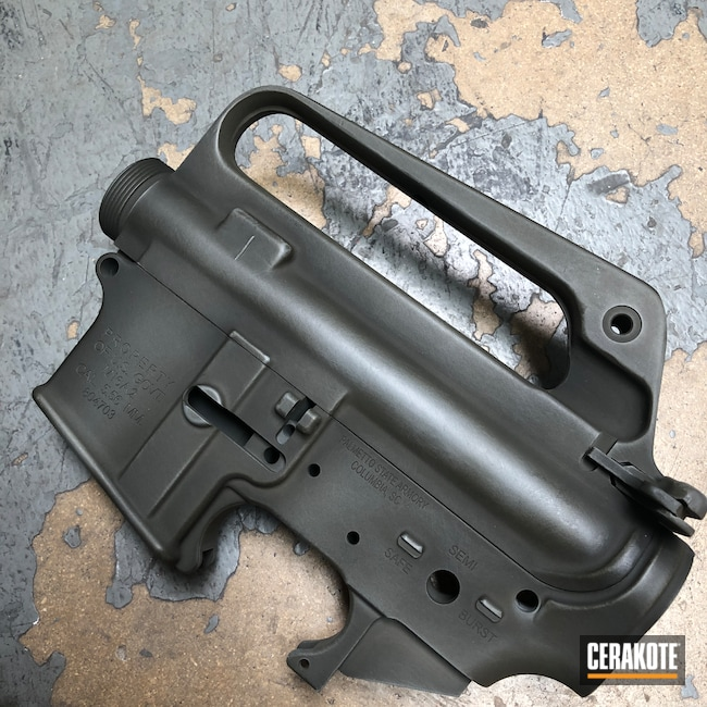 Cerakoted: S.H.O.T,Palmetto State Armory,M16A2,PSA,MAGPUL® O.D. GREEN H-232,Upper / Lower,Sniper Grey H-234,HAZEL GREEN H-204,Battleworn,SMITH & WESSON® GREY H-214,Worn,Upper,Parkerized Mimic,AR-15