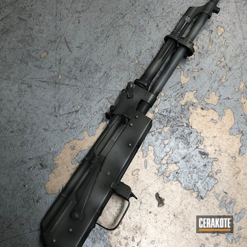 Cerakoted Distressed Ak Rifle In H-234, H-204, H-214 And H-232