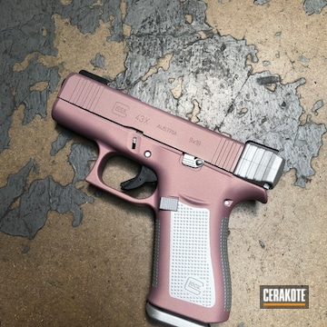 Cerakoted Two Toned Glock 43x In H-311 And H-151