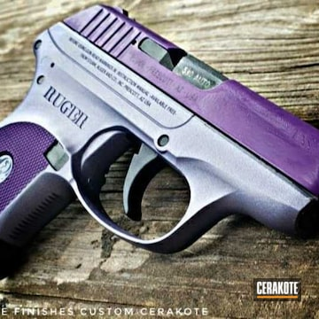 Cerakoted Two Tone Ruger Lcp In C-163 And H-314